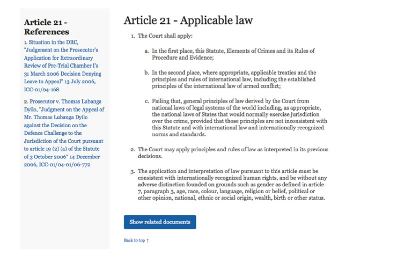 Image showing the Rome Statute idea