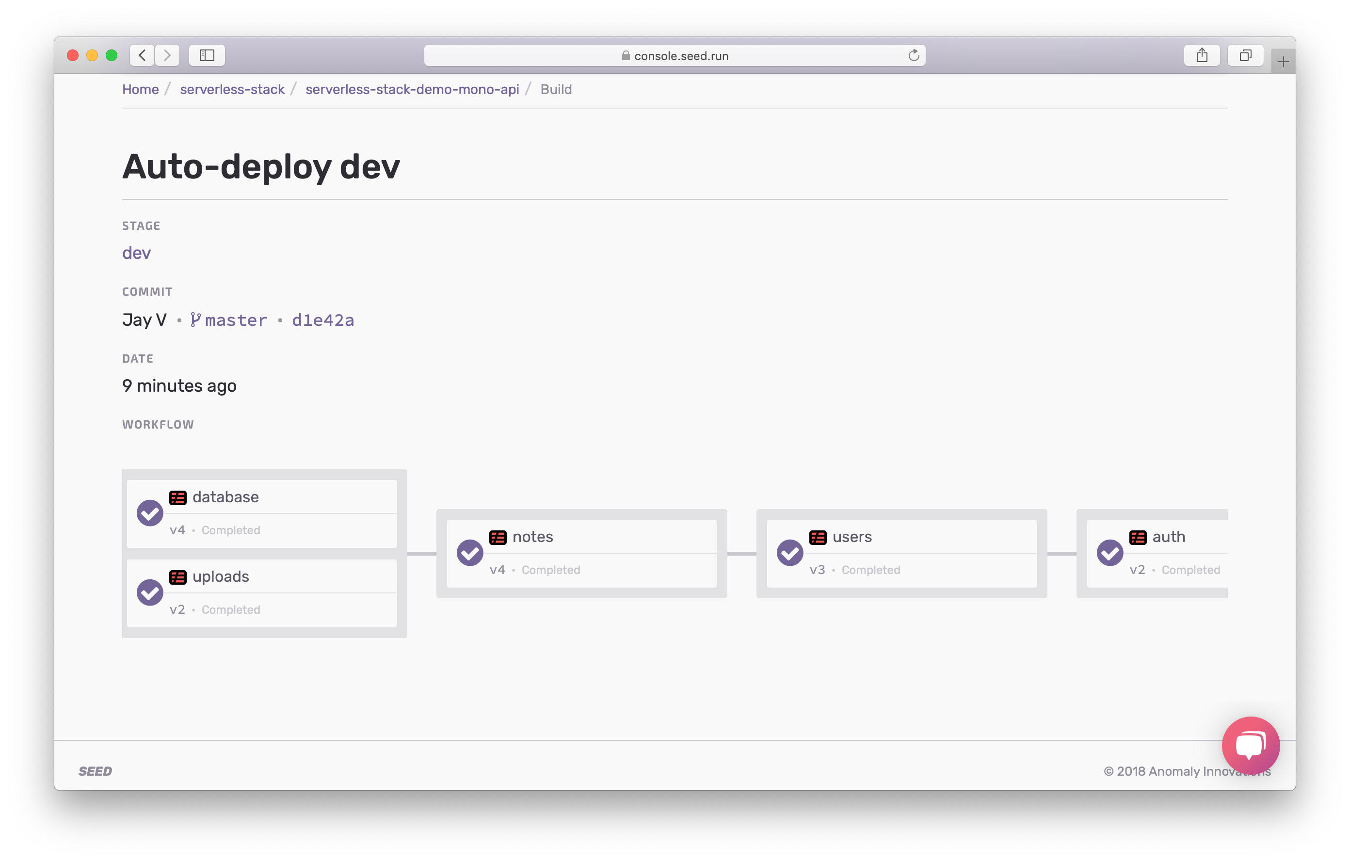 Deploying with Deploy Phase screenshot