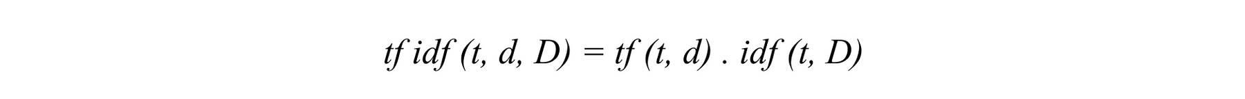TF-IDF formula