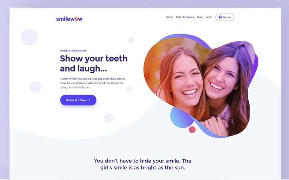 screenshot of website Smile Wow Dental
