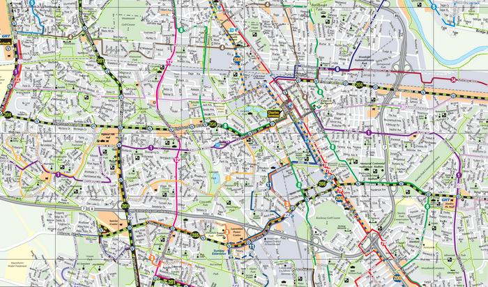 Grand River Transit map