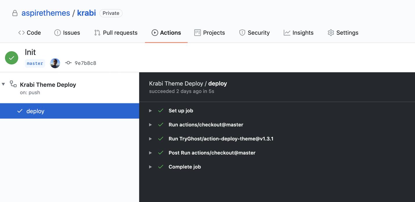 Krabi Documentation GitHub Actions
