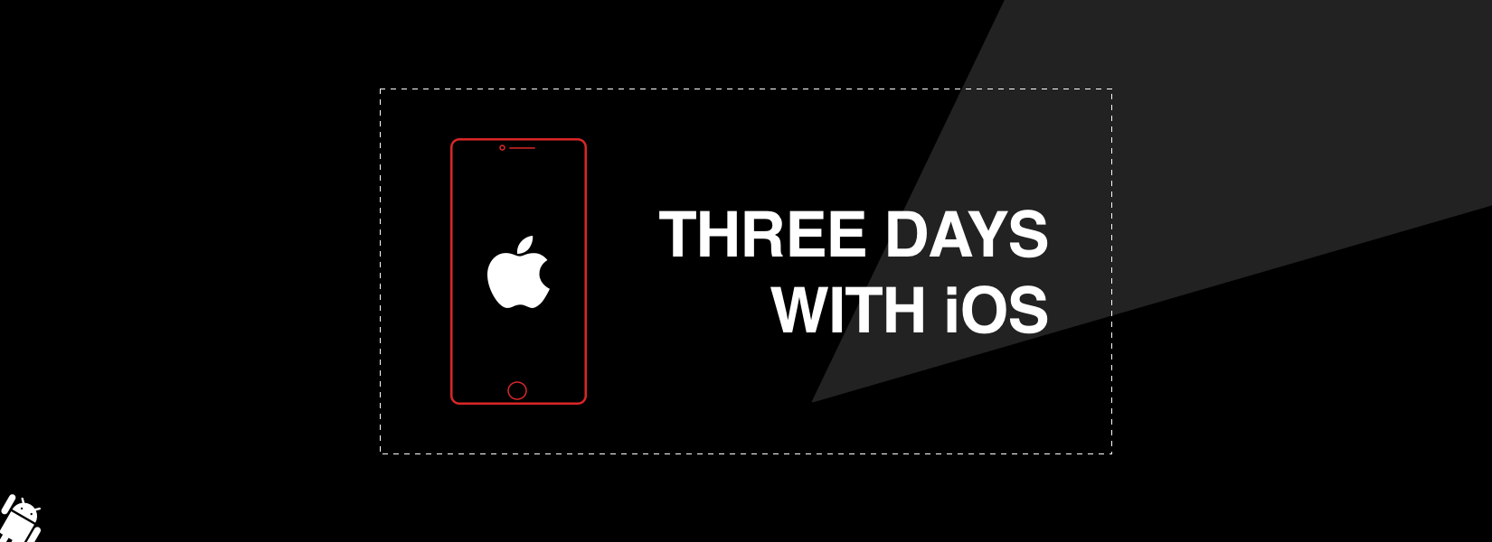 3 days with iOS - the Android user's perspective