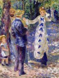 Renoir's The Swing is one of his most important works on the subject of light.