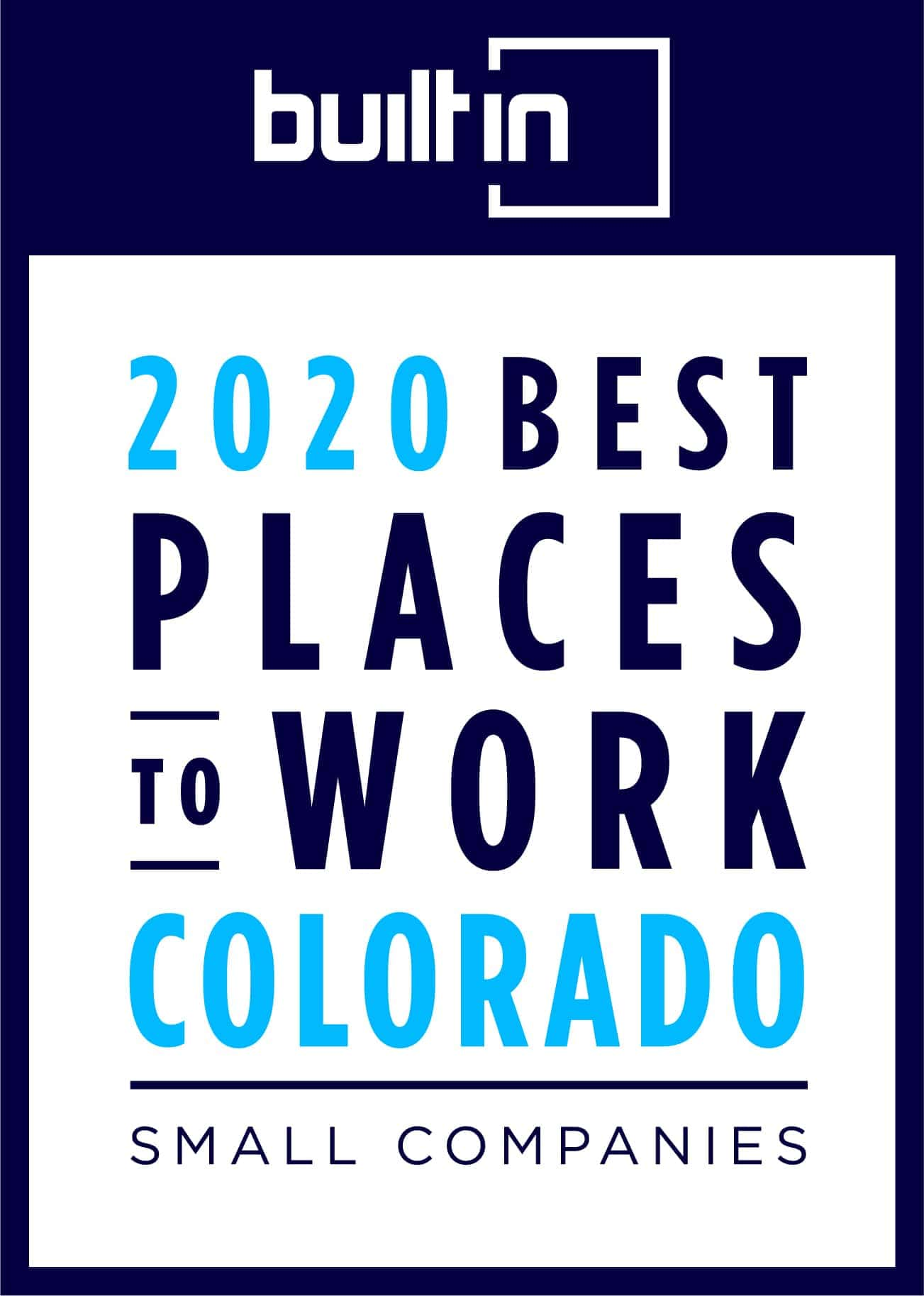 builtin 2020 Best Places to Work Colorado banner