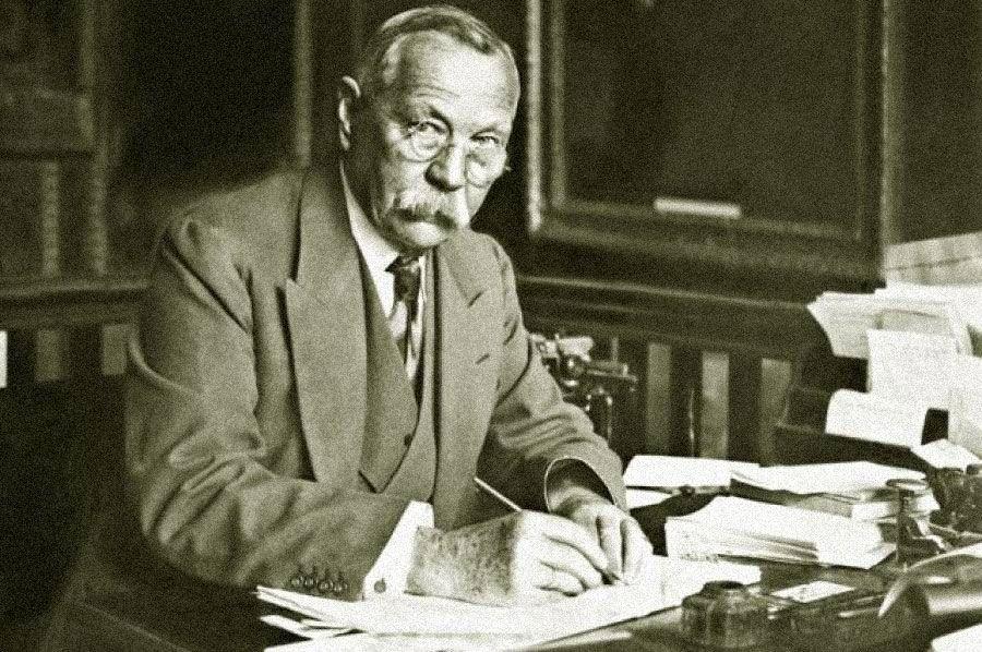 Cэр Артур Конан Дойл. 1928 год. Источник: globallookpress.com