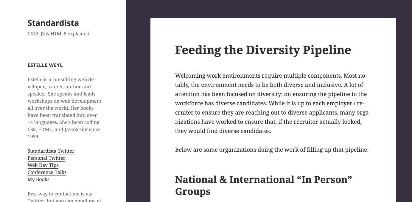 Feeding the Diversity Pipeline