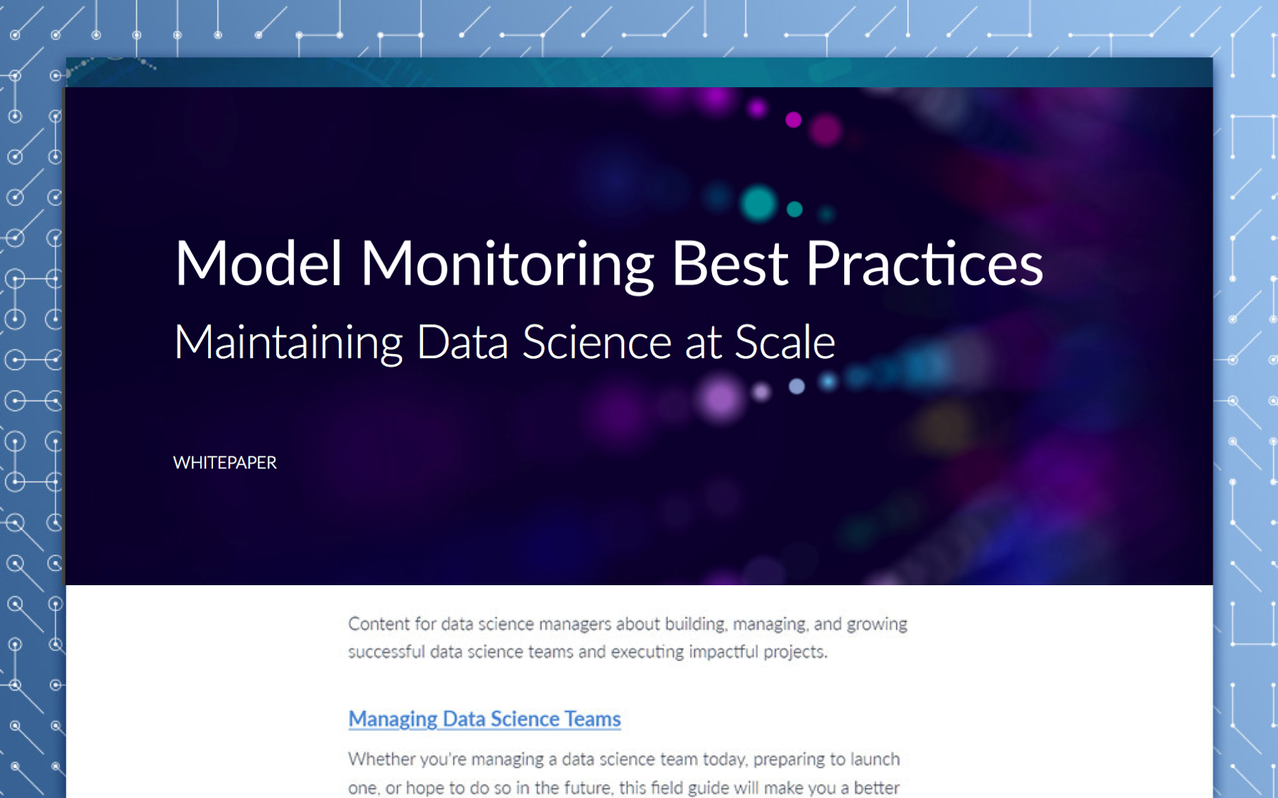 Model Monitoring Best Practices
