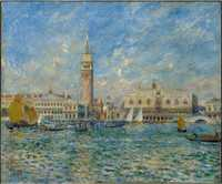 Renoir's The Doges Palace, from 1881, comes towards the end of his trimphant decade of impressionist painting.