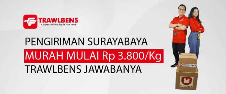 Jasa Cargo Surabaya Termurah Mulai dari Rp.3.800/Kg