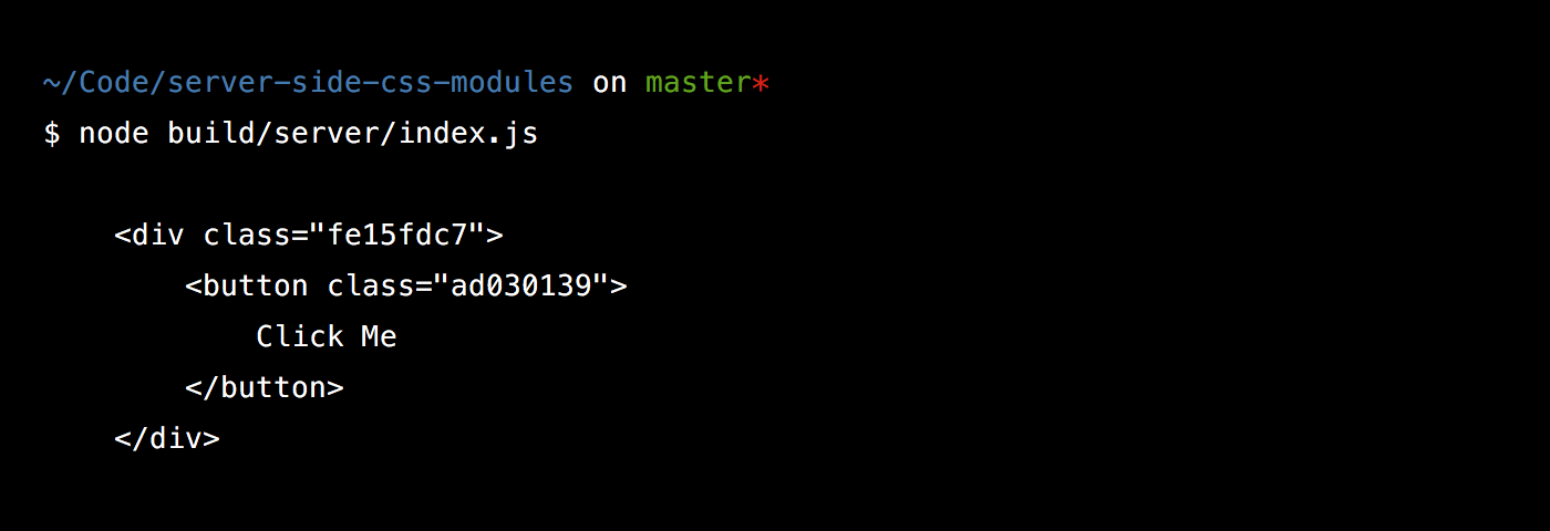 Terminal output from running our backend build