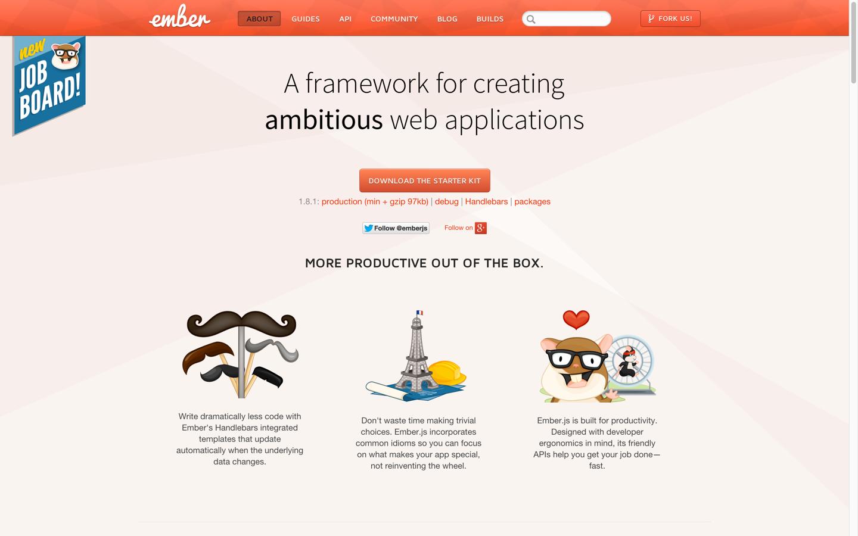 Ember.js Homepage
