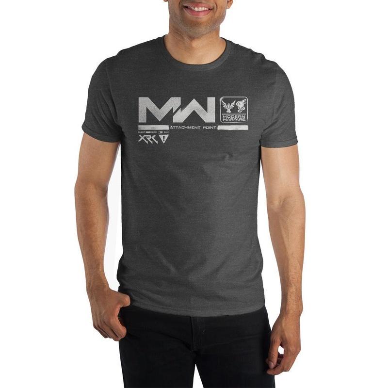 Call of Duty Modern Warfare Attachment Point Charcoal T-shirt