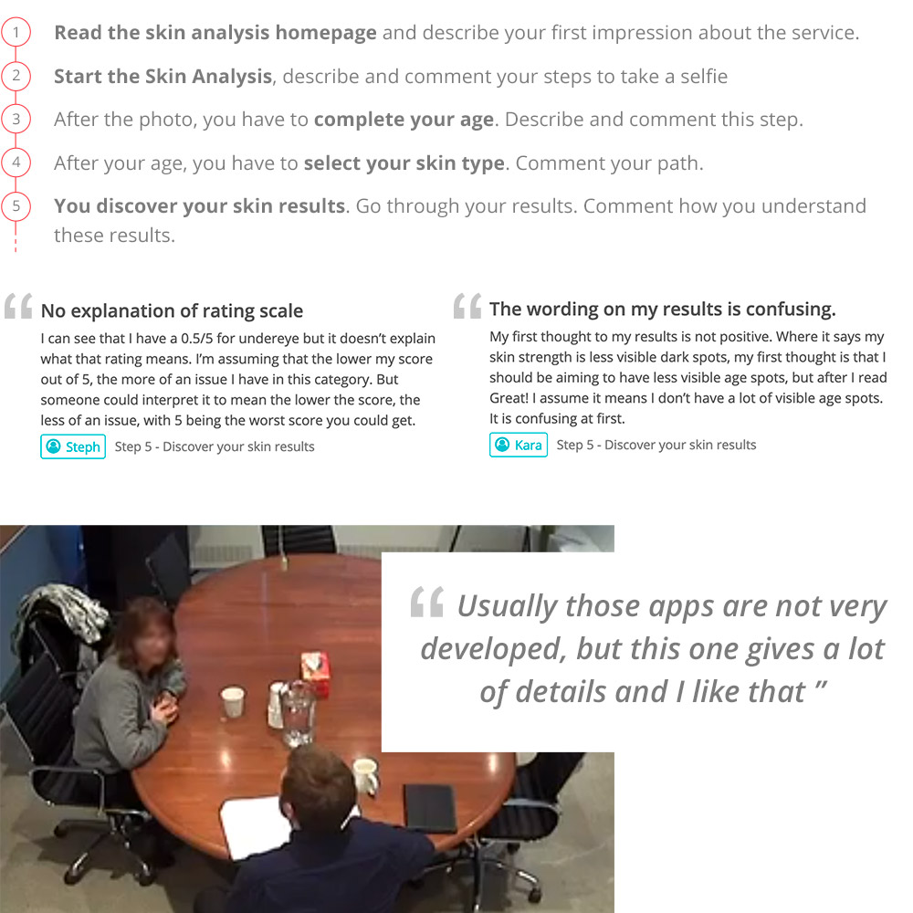 Un utilisateur en train de tester l'experience