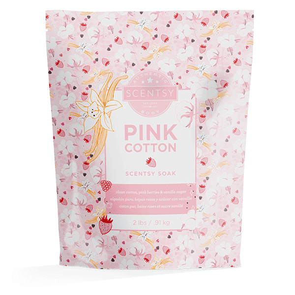 Pink Cotton Scentsy Soak