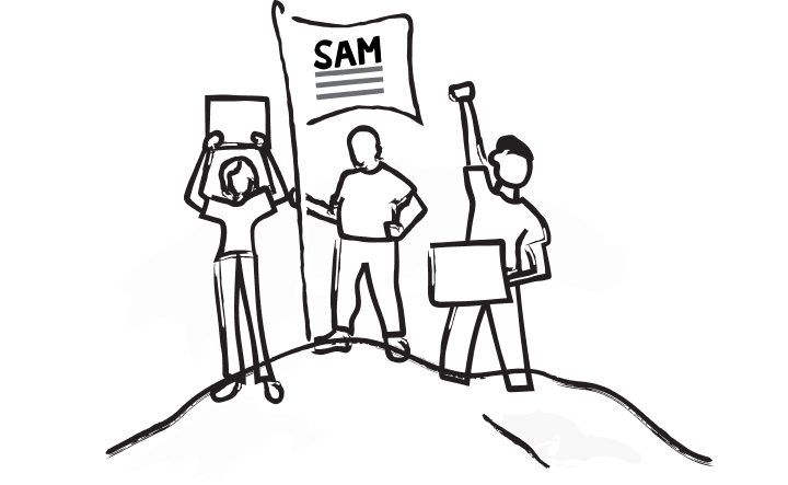 SAM supporters illustration