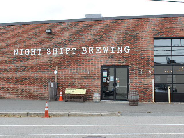 About to take a brewery tour of Night Shift Brewing in Everett, MA