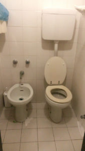 Bidet and a Toilet in a bathroom