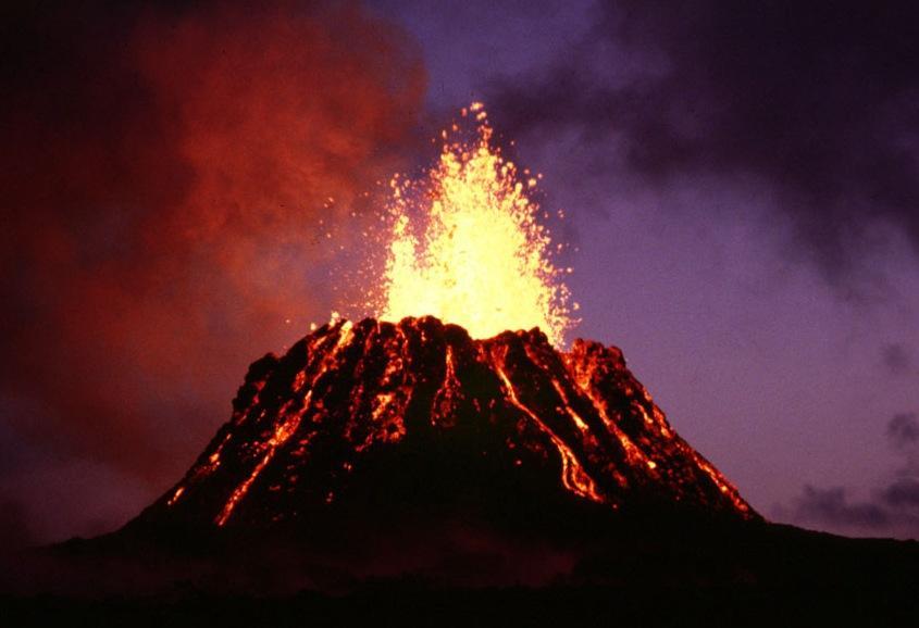 Een vulkaanuitbarsting