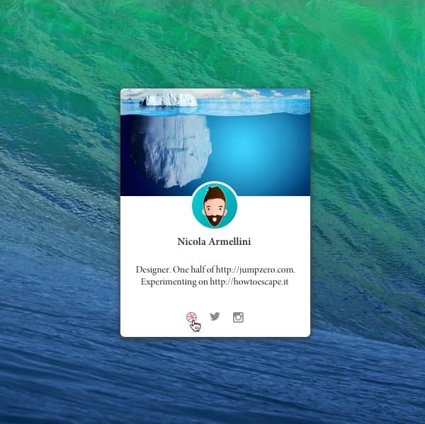 Profile card concept image