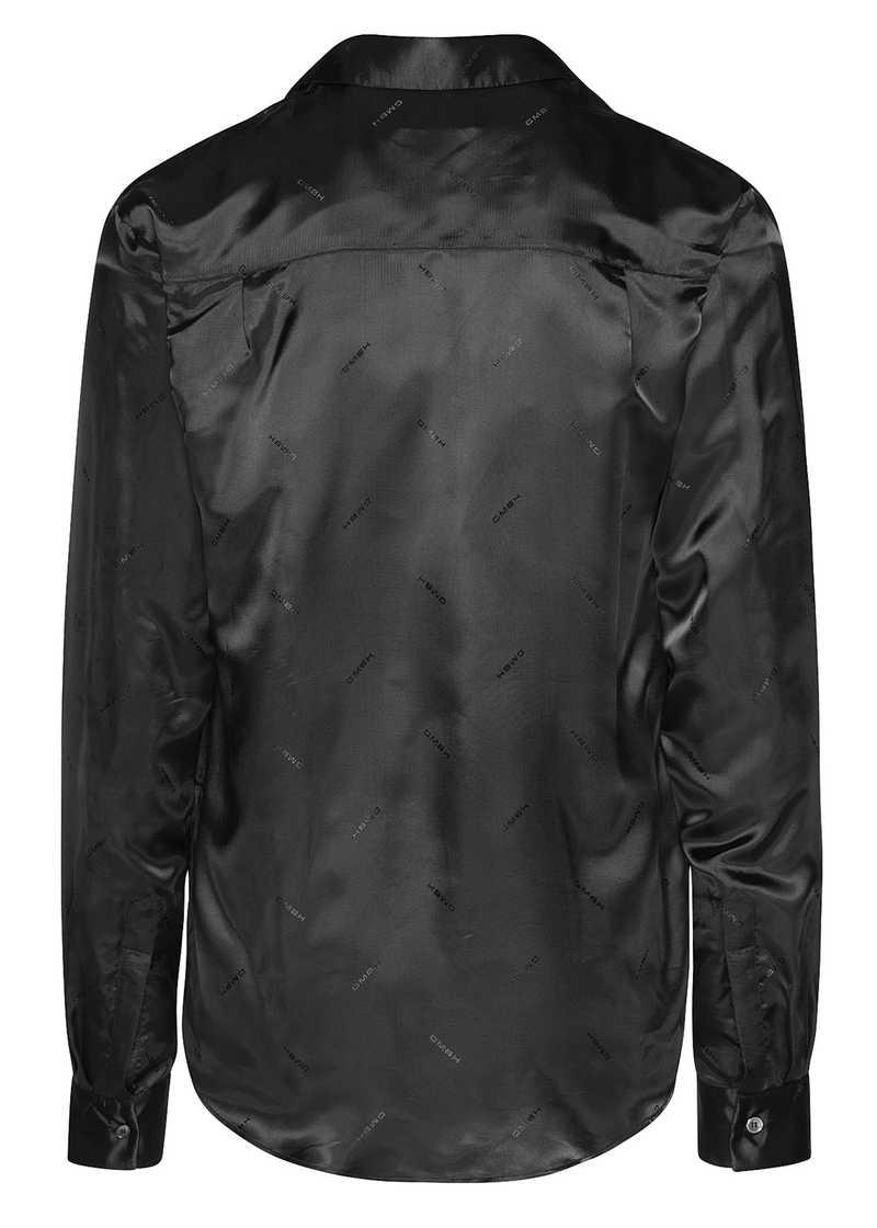 ASMUD jaquard shirt in black. GmbH Spring/Summer 2021 'RITUALS OF RESISTANCE'