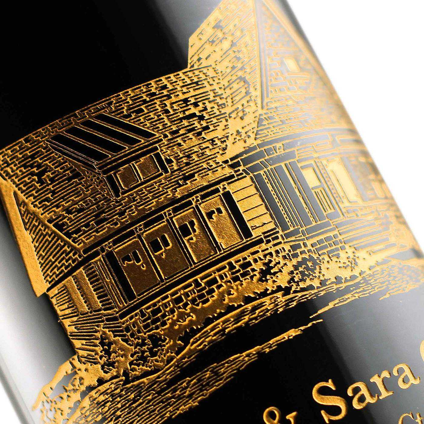 real estate customized wine bottles for etching expressions