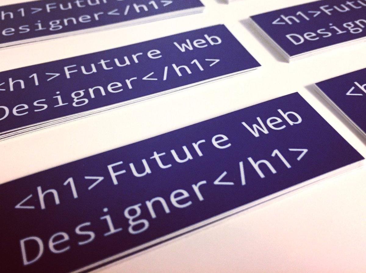 Future web designer stickers