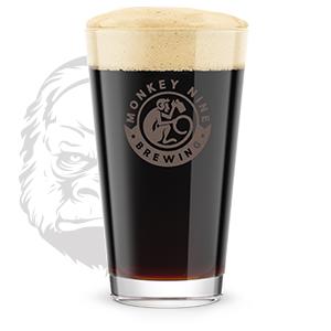 Rendering of Monkey 9 Silverback Stout Beer