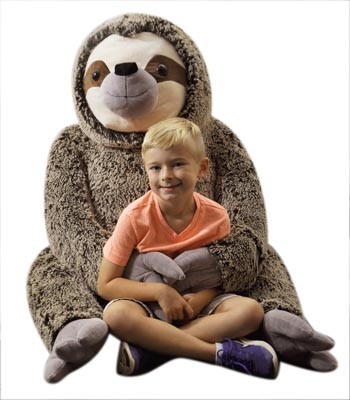 "The Petting Zoo: 55"" Wild Onez Jumbo Sloth"