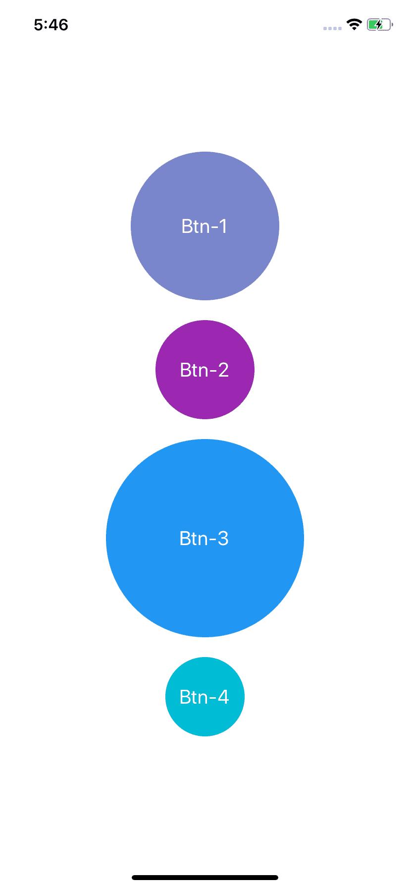 React Native circular buttons