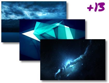 Dark Blue theme pack