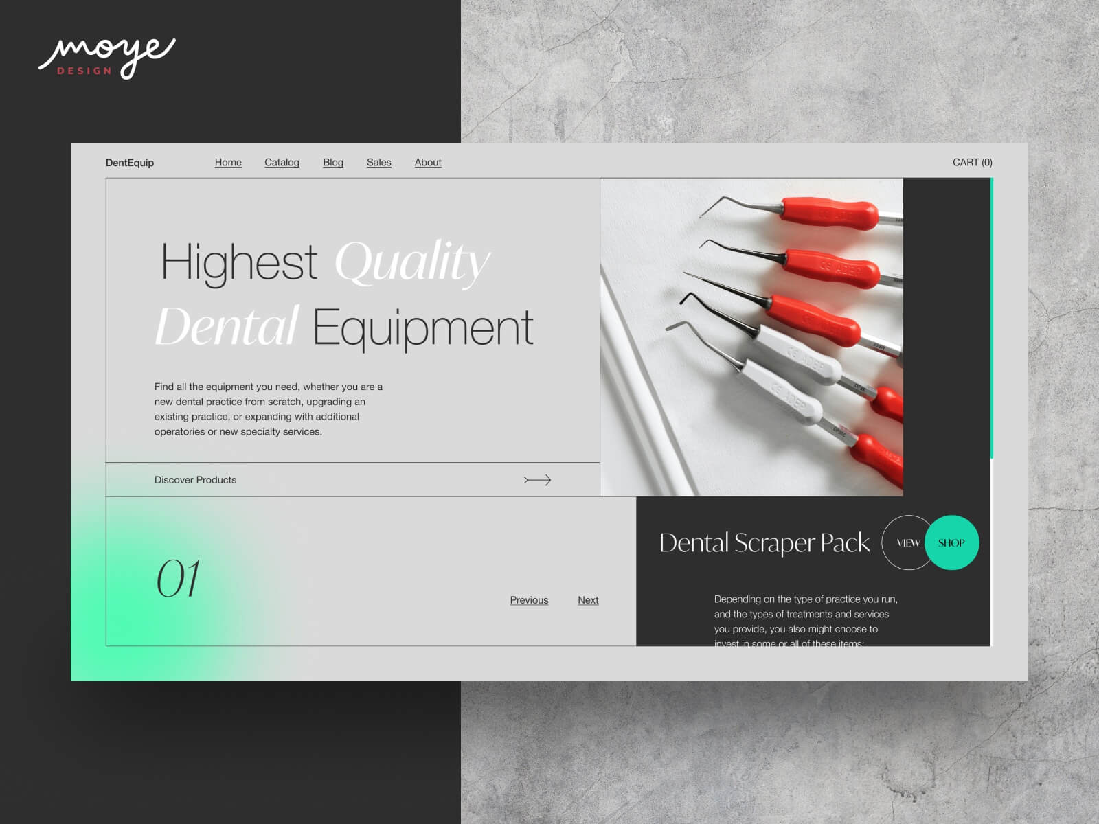 screenshot of Dent Equip Store