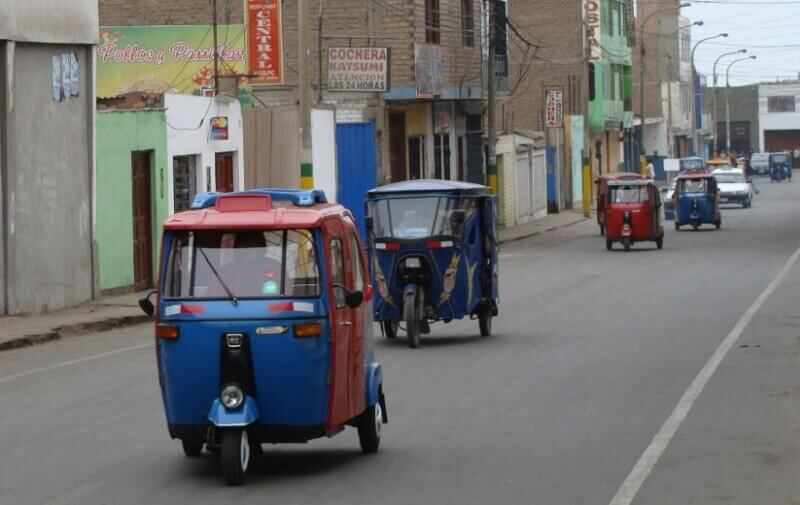 Motortaxi's in Lima