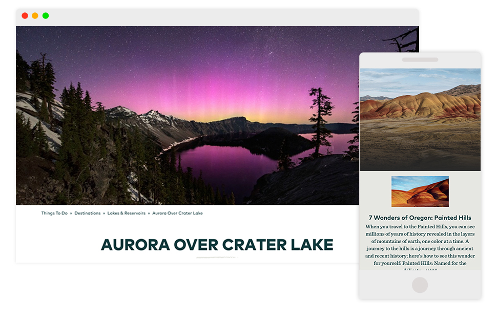 Image: Aurora over Crater Lake