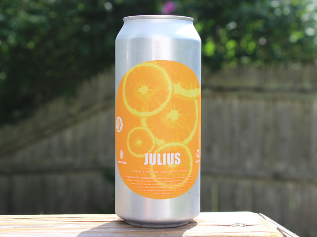 Julius, an IPA brewed by Tree House Brewing Company