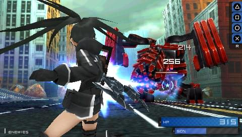 black rock shooter psp action rpg