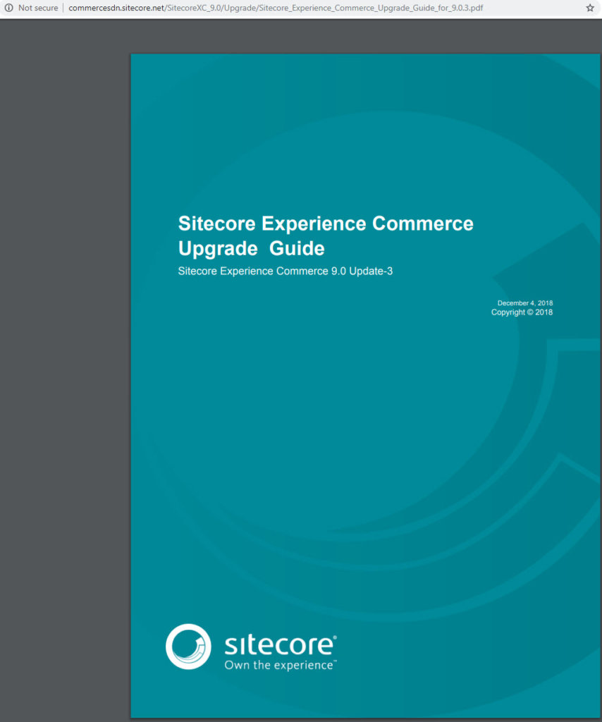 Blog - Upgrade Sitecore Experience Commerce 9 0 Update-2 to