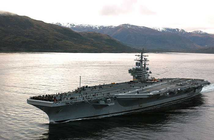 USS Ronald Reagan at Sea
