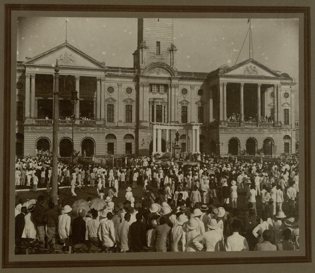 An old photo of the centenary celebrations.