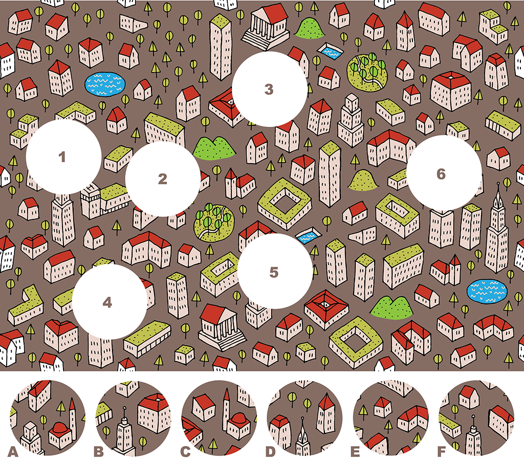 City – A Visual Matching Puzzle