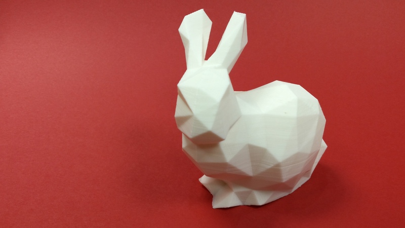 Flashforge Creator Pro 3D Printed Low Poly Standford Bunny