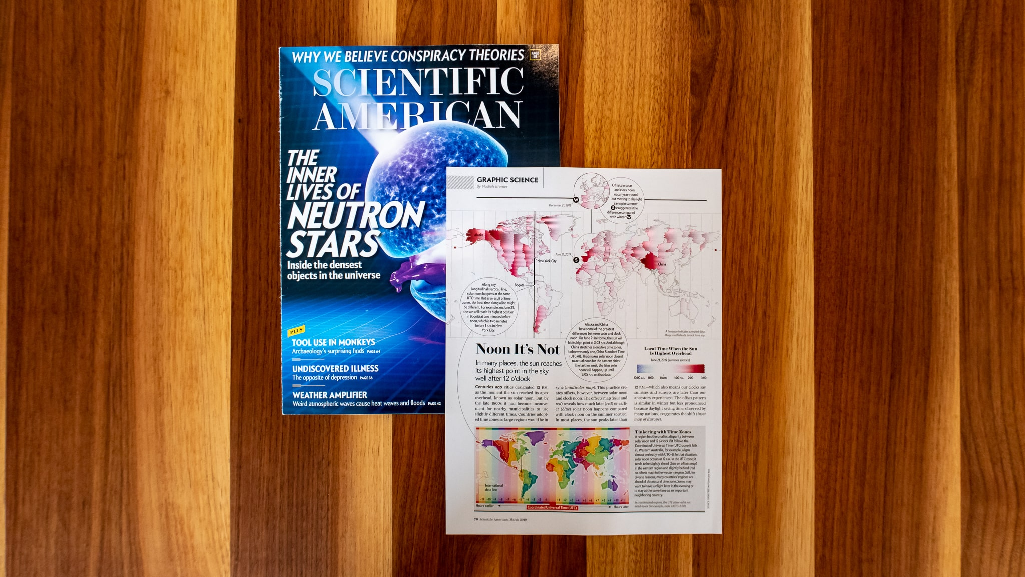 The Graphic Science page together with the rest of the March 2019 Scientific American issue