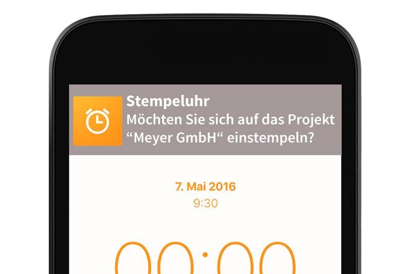 automatische Zeiterfassung App