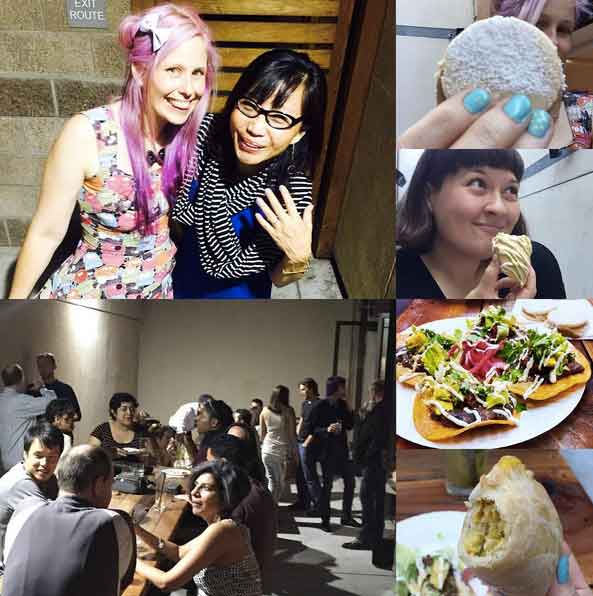 August 2015 South Bay Vegan Drinks collage
