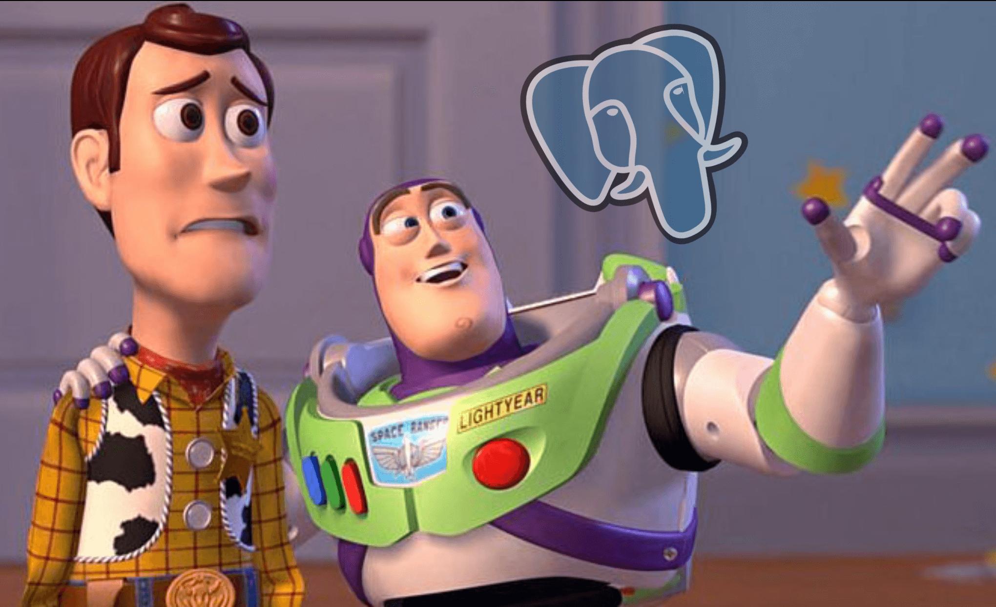 Meme about PostgreSQL being the best