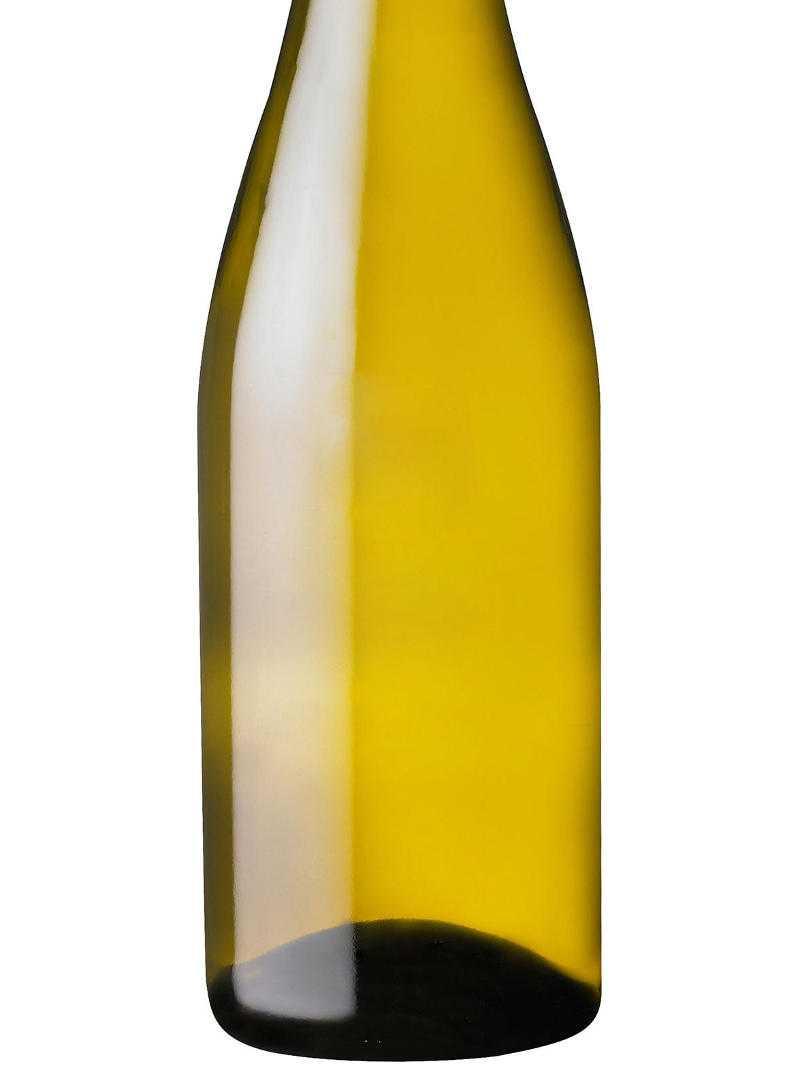 Blank white wine bottle for custom etching