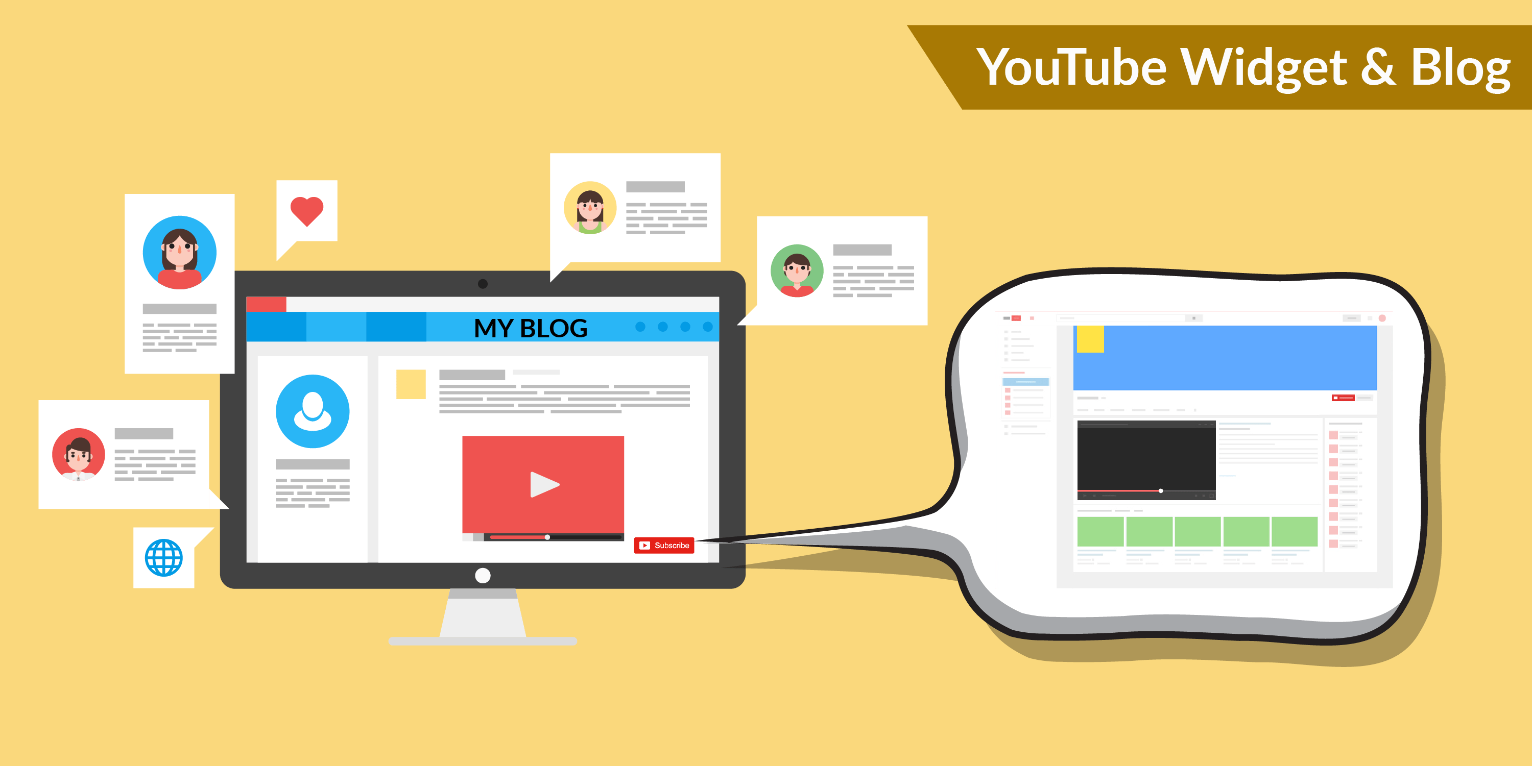 YOUTUBE WIDGET & BLOG