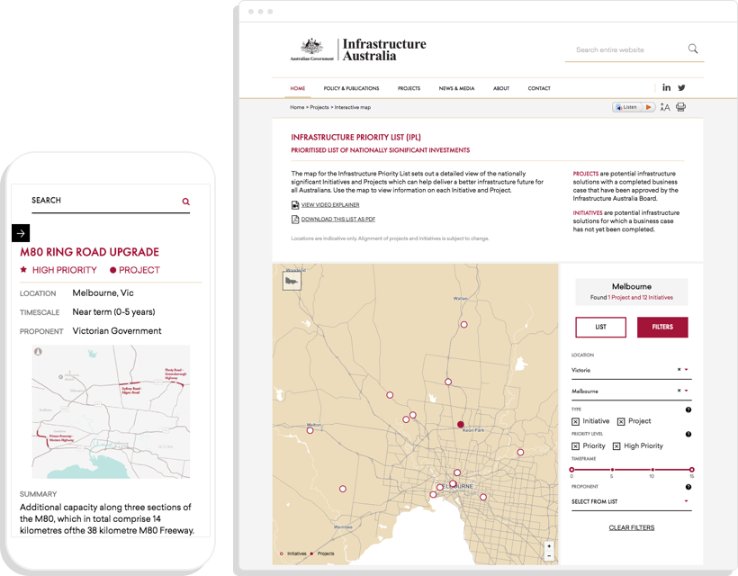 Australia Map Key.Mapping Key Infrastructure Projects In Australia