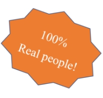 100% Real people!