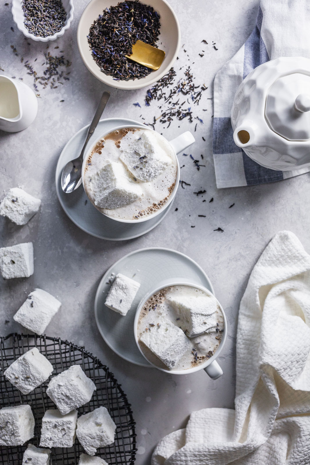 Earl Grey Latte With Homemade Lavender Marshmallows